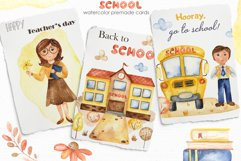 SCHOOL. Watercolor collection. Clipart, cards, patterns Product Image 4