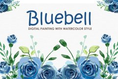 Bluebell - Digital Watercolor Floral Flower Style Clipart Product Image 1