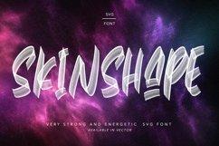 Web Font Skinshape - Energetic SVG Font Product Image 1