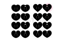 16 Templates Heart Hair Bow Display Card   BDC009 Product Image 2