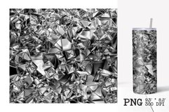 Skinny tumbler sublimation silver foil crush template Product Image 2