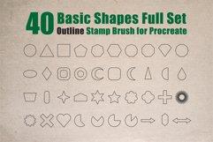 Procreate Brush stamp, Basic Shapes Stamp Brushes Product Image 1
