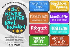 The Newbie Crafter Font Bundle - 8 fun & smooth families! Product Image 1