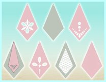 Faux Leather Earring SVG Bundle, Laser Necklace Template SVG Product Image 4