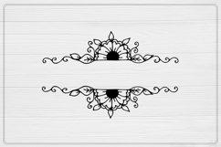 Split Monogram SVG, Fall SVG , Floral Cut File Product Image 2