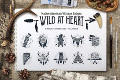 Wild at Heart. Native American Vintage Badges. Vol.1 Product Image 1