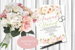 Watercolor Peony Blush Clipart Bundle Product Image 5