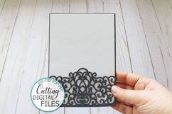 Wedding Pocket Envelope for 5x7 invitation svg dxf laser cut Product Image 4