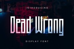 Web Font Dead Wrong Font Product Image 1