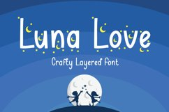 Luna Love - Layered Crafty Font Product Image 1