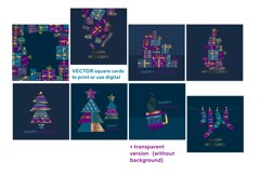 Christmas postcards and wrap digital paper vector bundle Product Image 2