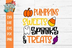 Pumpkins Sweets Spooks and Treats Halloween SVG Cut File Product Image 2
