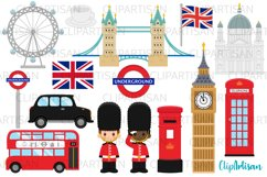 London Clipart, British Clip Art, England, Big Ben Product Image 1