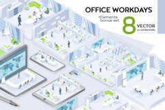 Office Workdays Isometric Design Product Image 2
