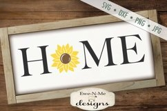 Home Sunflower SVG DXF File Product Image 1