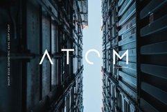 Atom - Sharp edge Future Scifi font Product Image 1
