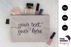 Makeup Bag Mockup, Cosmetic bag mockup Product Image 2