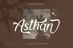 Asthan - a classy bold typeface Product Image 1