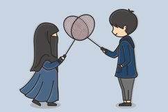 Muslim Hijab Character Vector Illustration Product Image 3