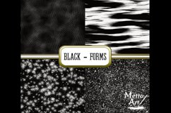 Black Forms - 10 Digital Papers/Backgrounds Product Image 3