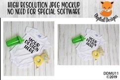 Baby Bodysuit Mock Up Mockup Product Image 1