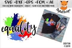 Rainbow Equality Paint Splash LGBT SVG Product Image 1