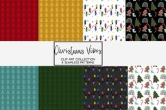 Christmas Vibes clipart and seamless patterns Product Image 2