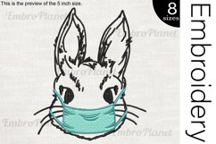 Bunny With Mask - Embroidery Files - 1476e Product Image 1