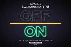 Neon Electricity Off On 3D Illustrator Text Style Effect Product Image 1