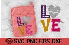 Love - Lips - Heart - Pot Holder - Valentine SVG PNG DXF EPS Product Image 1