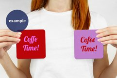 Woman holding 2 Coasters Mockup, Mother's Day Mockup PSD Product Image 2