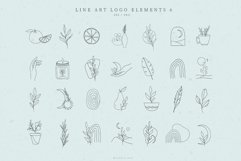 Line Art Logo Elements, Logo Design, Business card, Boho Product Image 1