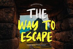 The Way To Escape Handwritten Brush Product Image 1