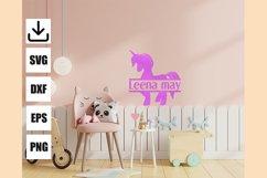 Layered unicorn custom and monogram unicorn, easy to cut Product Image 5