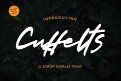 Web Font Cuffelts - Script Display Font Product Image 3
