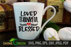 Valentine SVG - Loved Thankful and Blessed Heart SVG Product Image 2