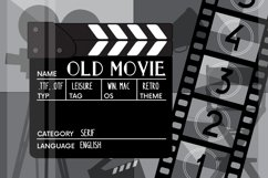 Old movie. Retro serif font Product Image 1