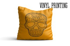 Puppy Calavera Tattoo Style Vector Product Image 4