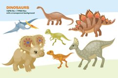 Dinosaurs. Vector clip arts. Product Image 2