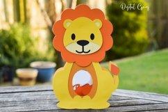 Lion Easter egg holder design SVG / DXF / EPS Product Image 4