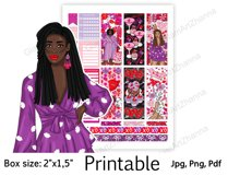"""Galentine's Day African American Stickers Box Size 2""""x1,5"""" Product Image 6"""