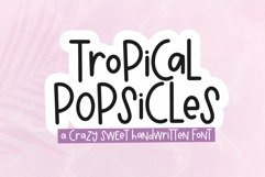 Web Font Tropical Popsicles - A Quirky Handwritten Font Product Image 1