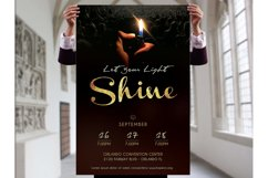 Shine Church Flyer Poster Photoshop Template Product Image 4