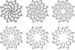 Layered Mandala SVG, Laser cut file, Cricut Mandala, Flower Product Image 6