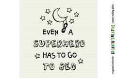 Funny Boys Superhero Bedtime Quote|SVG DXF EPS PNG cut file Product Image 3