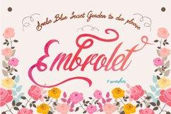 Embrolet Script Font Product Image 2