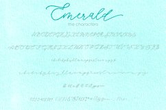Emerald, imperfect modern calligraphy script Product Image 2