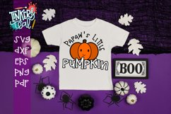 Papaw's Little Pumpkin Fall SVG Product Image 1