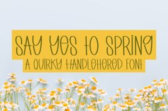 Say Yes to Spring - A Quirky Handlettered Font Product Image 1