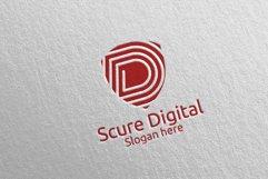 Secure Digital Letter D Digital Marketing Logo 78 Product Image 4